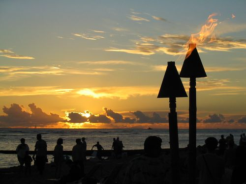 Hawaii_sunset_beach_1600x1202_pixel